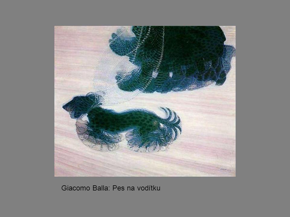 Giacomo Balla: Pes na vodítku