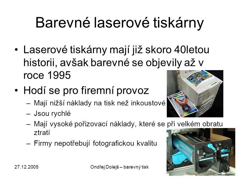 Barevné laserové tiskárny