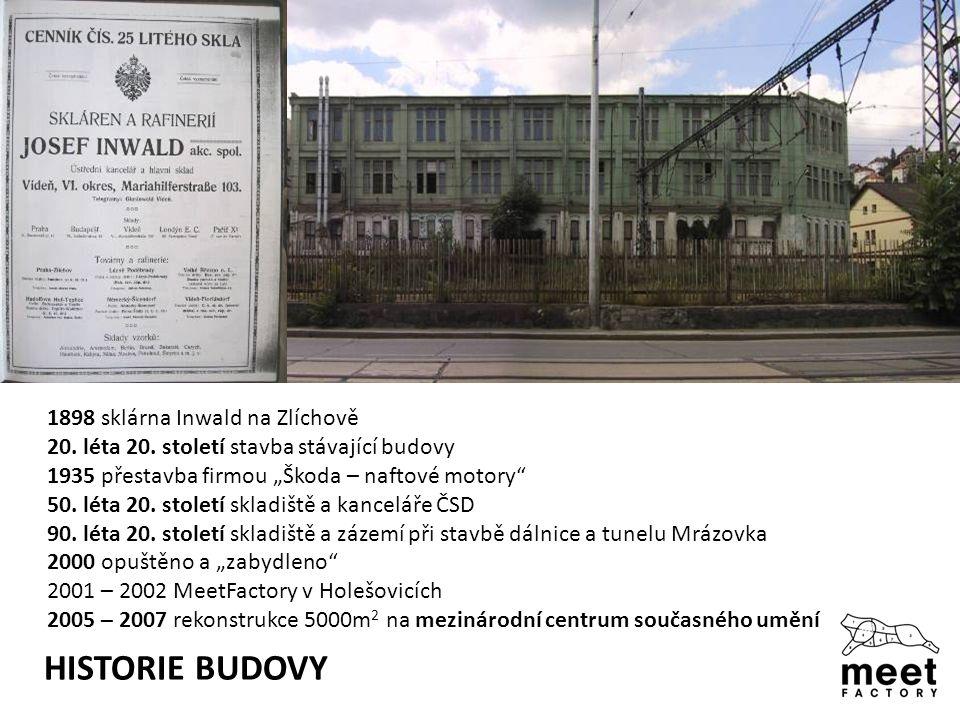 HISTORIE BUDOVY 1898 sklárna Inwald na Zlíchově