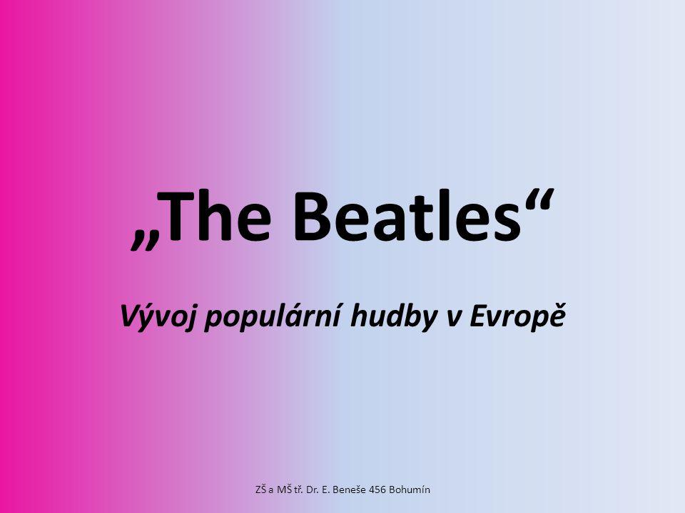 Vývoj populární hudby v Evropě
