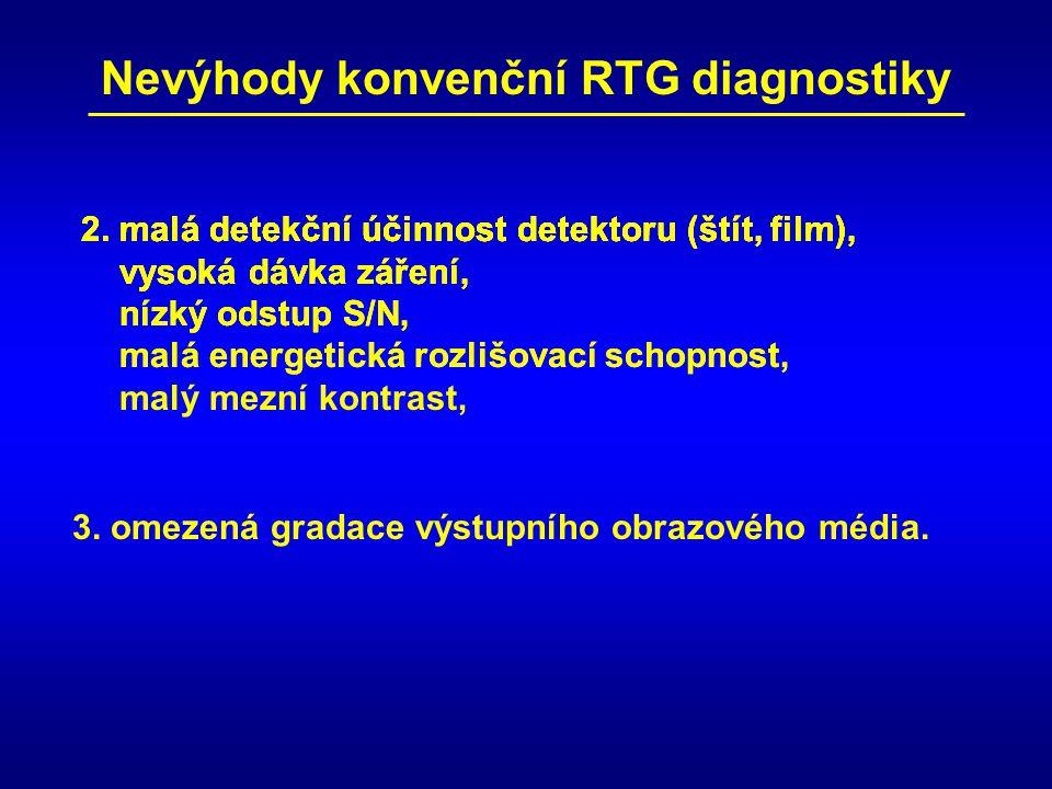Nevýhody konvenční RTG diagnostiky