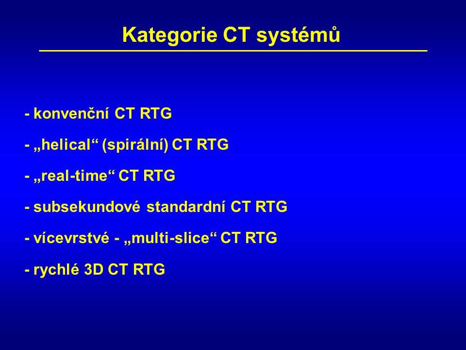 """Kategorie CT systémů - konvenční CT RTG - """"helical (spirální) CT RTG"""