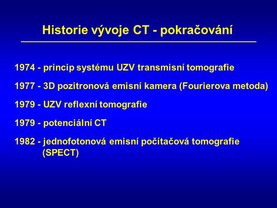 Historie vývoje CT - pokračování