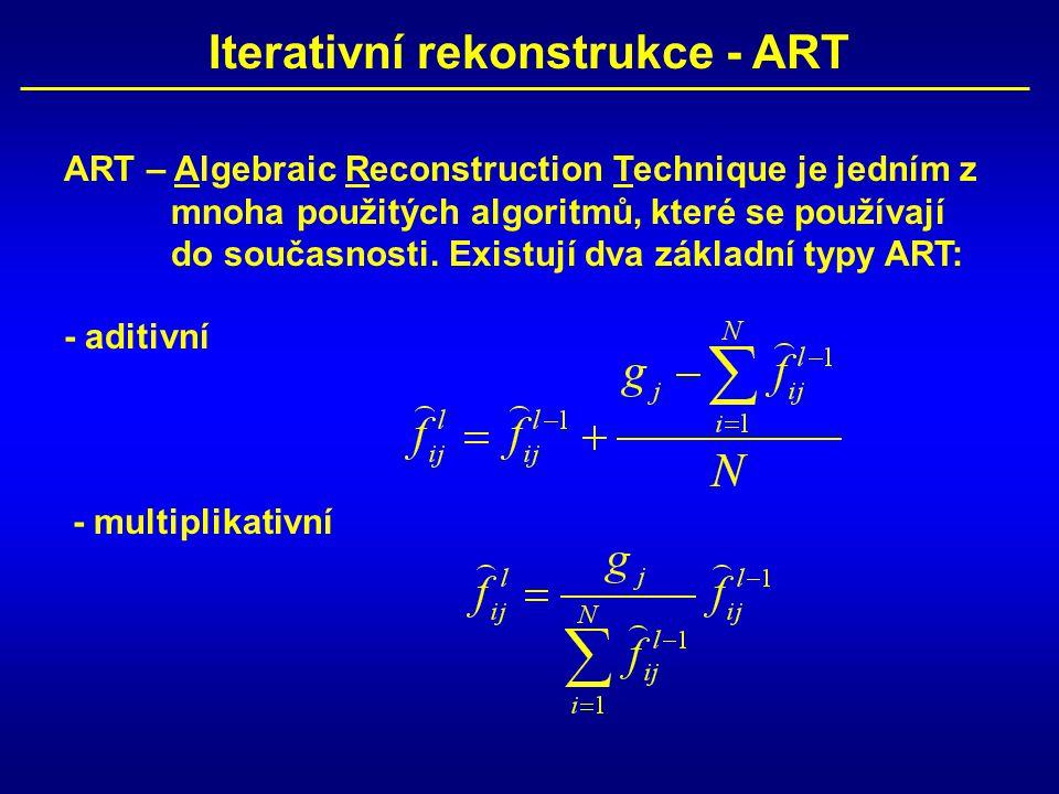 Iterativní rekonstrukce - ART