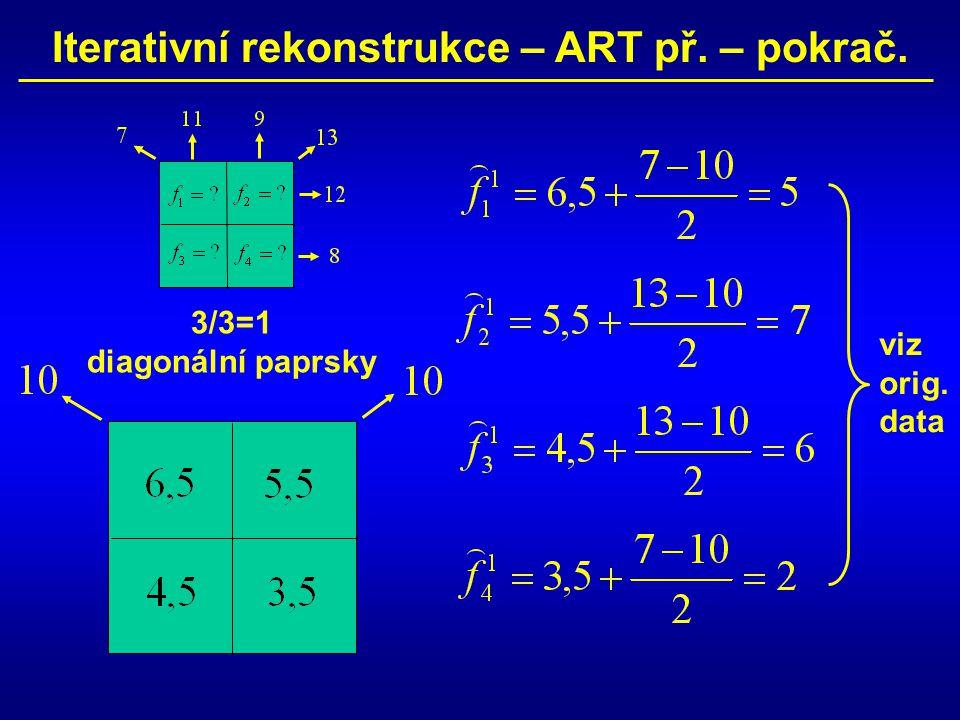 Iterativní rekonstrukce – ART př. – pokrač.