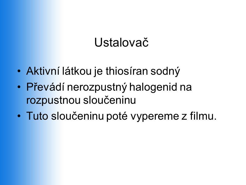 Ustalovač Aktivní látkou je thiosíran sodný