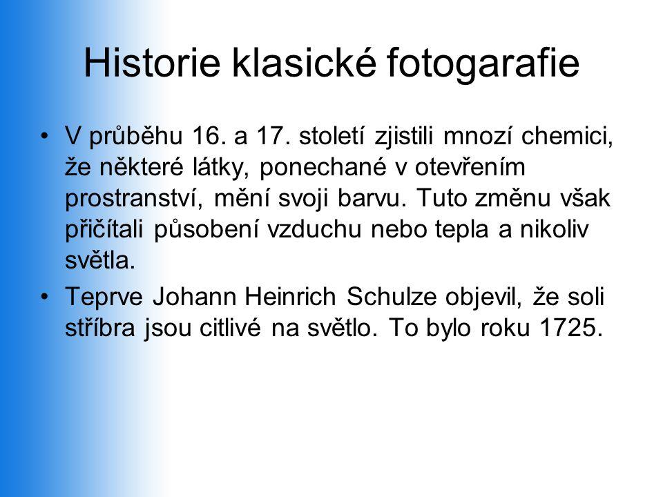 Historie klasické fotogarafie