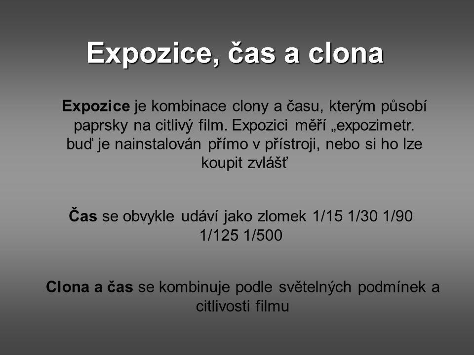 Expozice, čas a clona