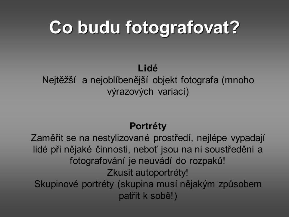 Co budu fotografovat Lidé