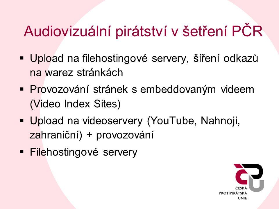 Audiovizuální pirátství v šetření PČR