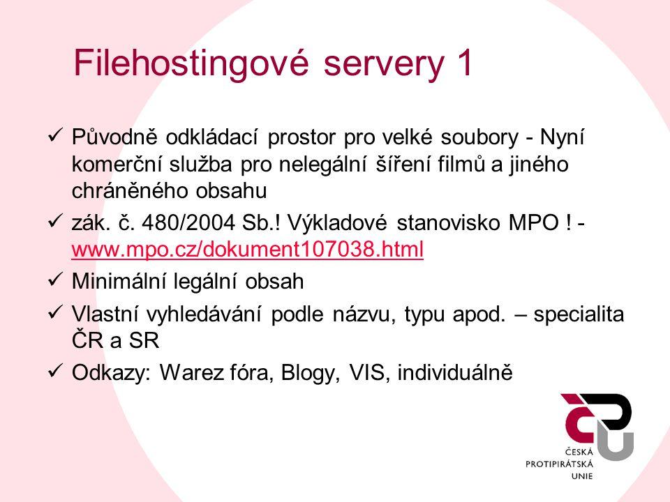 Filehostingové servery 1