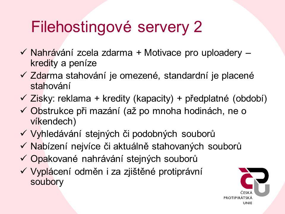Filehostingové servery 2