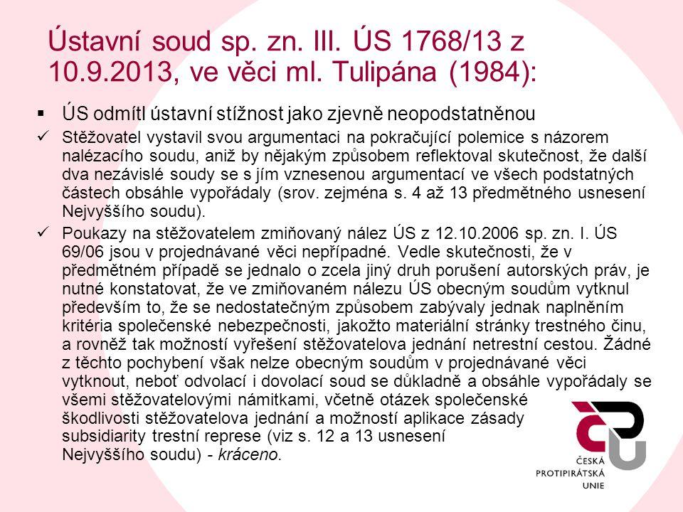 Ústavní soud sp. zn. III. ÚS 1768/13 z 10. 9. 2013, ve věci ml