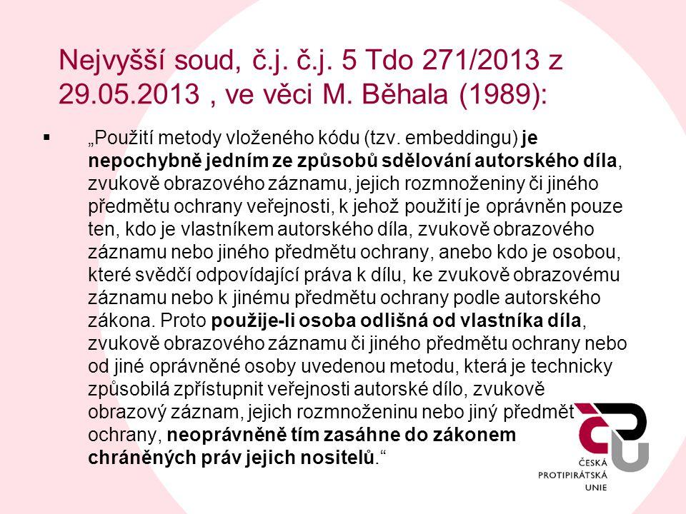 Nejvyšší soud, č. j. č. j. 5 Tdo 271/2013 z 29. 05. 2013 , ve věci M