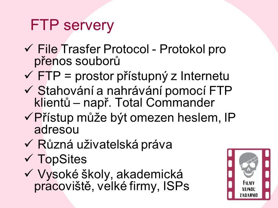 FTP servery File Trasfer Protocol - Protokol pro přenos souborů