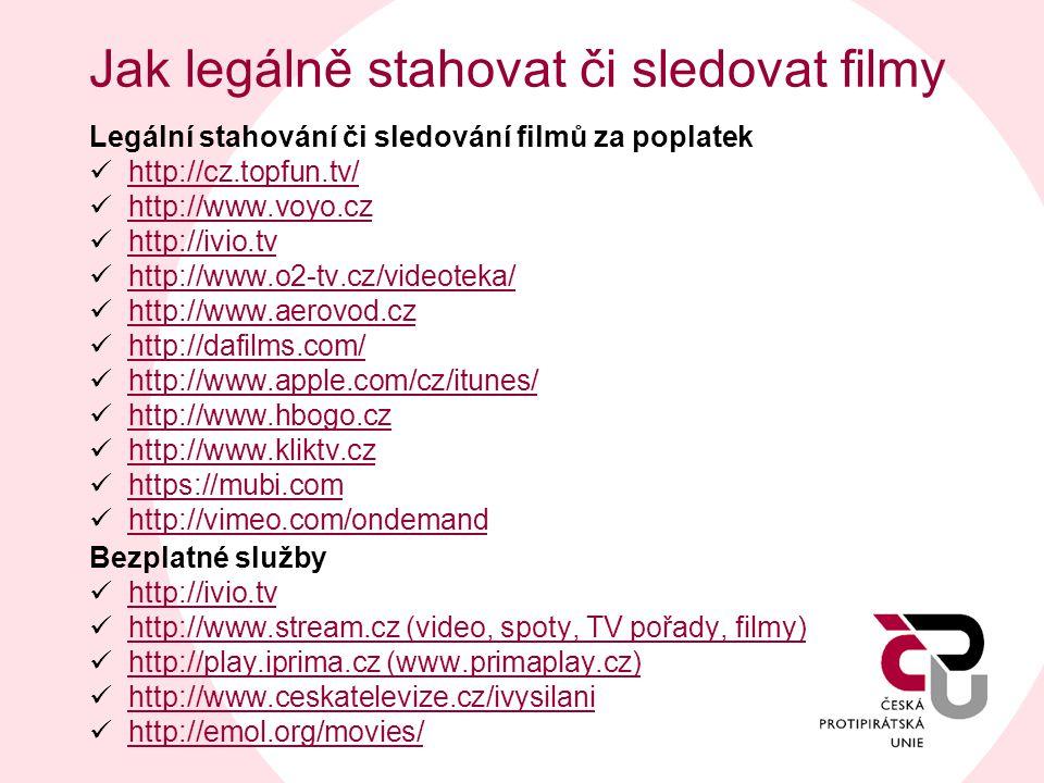 Jak legálně stahovat či sledovat filmy
