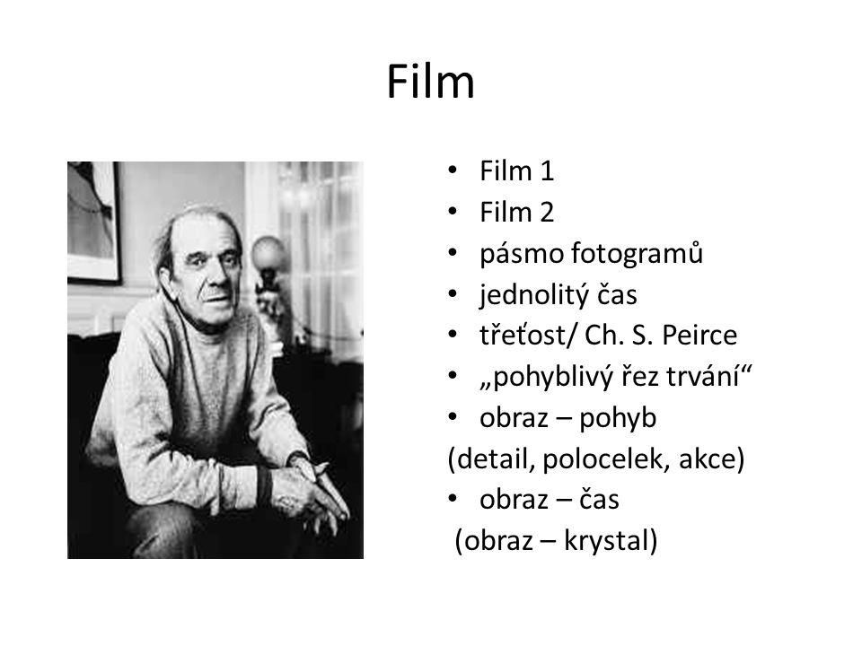 Film Film 1 Film 2 pásmo fotogramů jednolitý čas