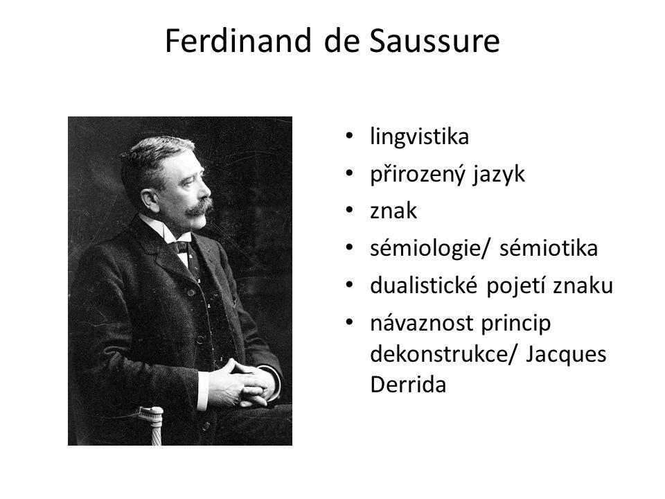 Ferdinand de Saussure lingvistika přirozený jazyk znak