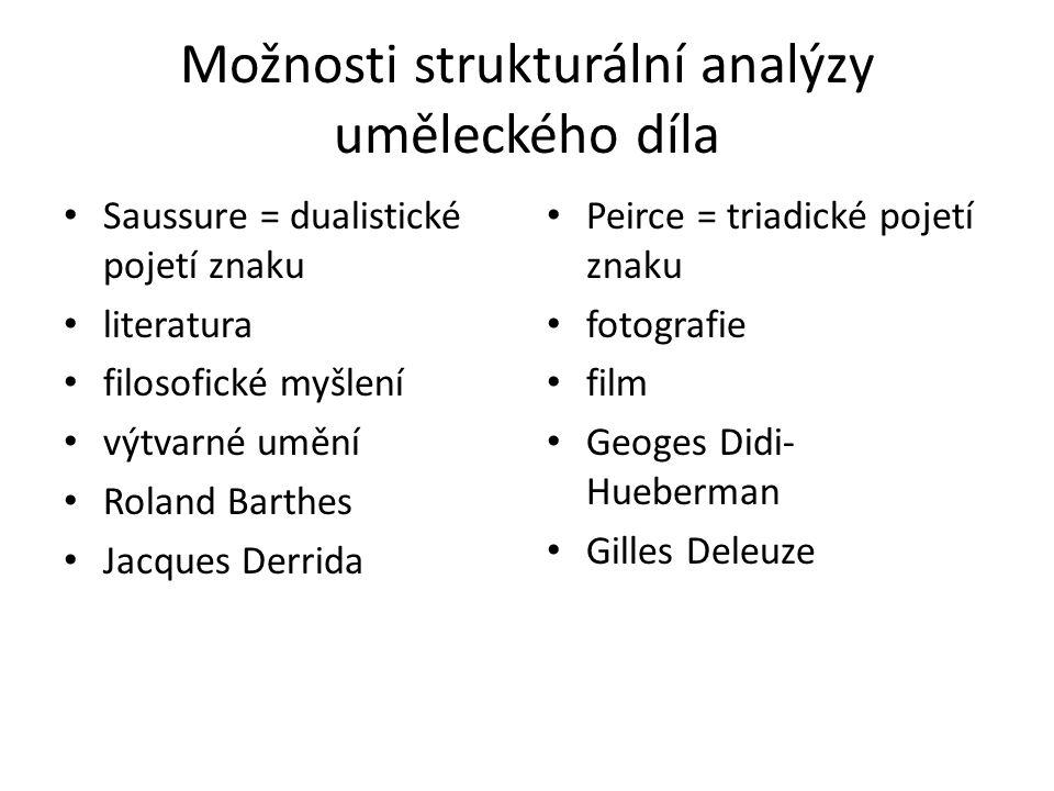 Možnosti strukturální analýzy uměleckého díla