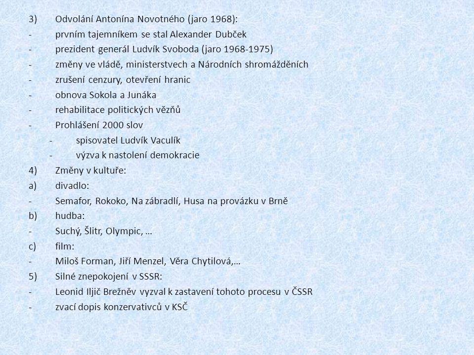 Odvolání Antonína Novotného (jaro 1968):