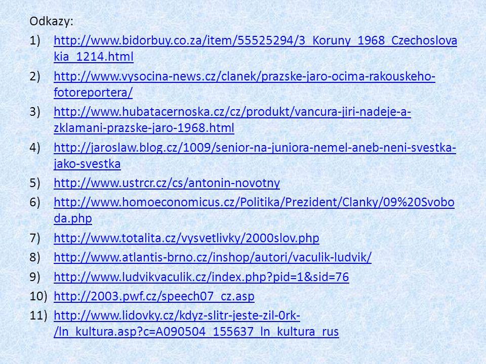 Odkazy: http://www.bidorbuy.co.za/item/55525294/3_Koruny_1968_Czechoslovakia_1214.html.