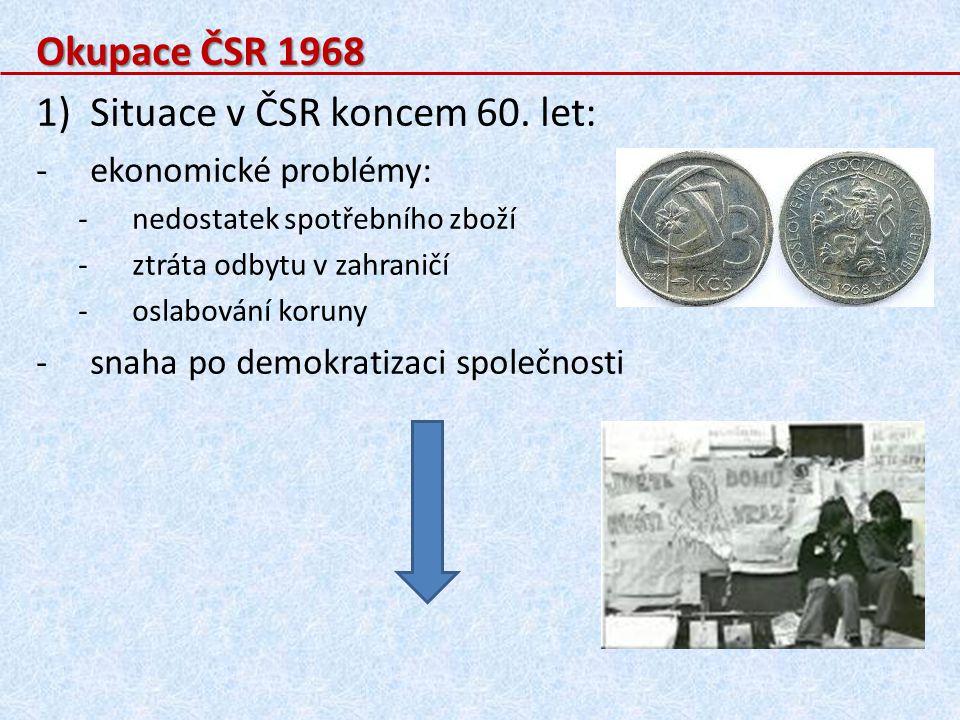 Situace v ČSR koncem 60. let: