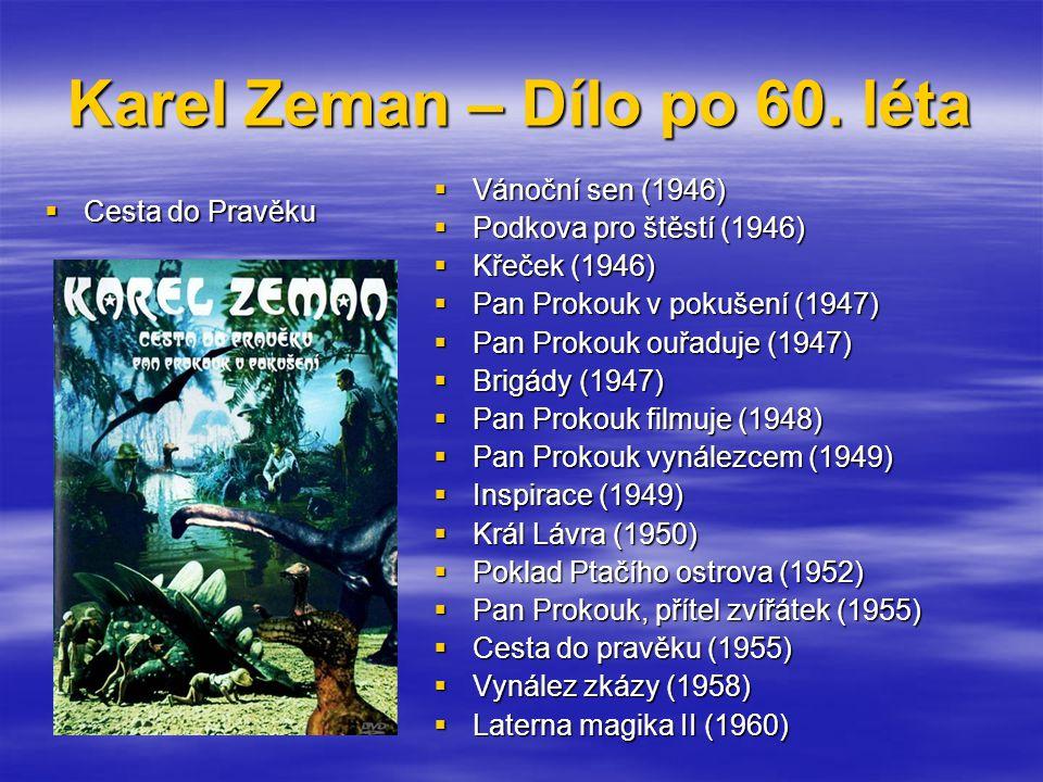 Karel Zeman – Dílo po 60. léta