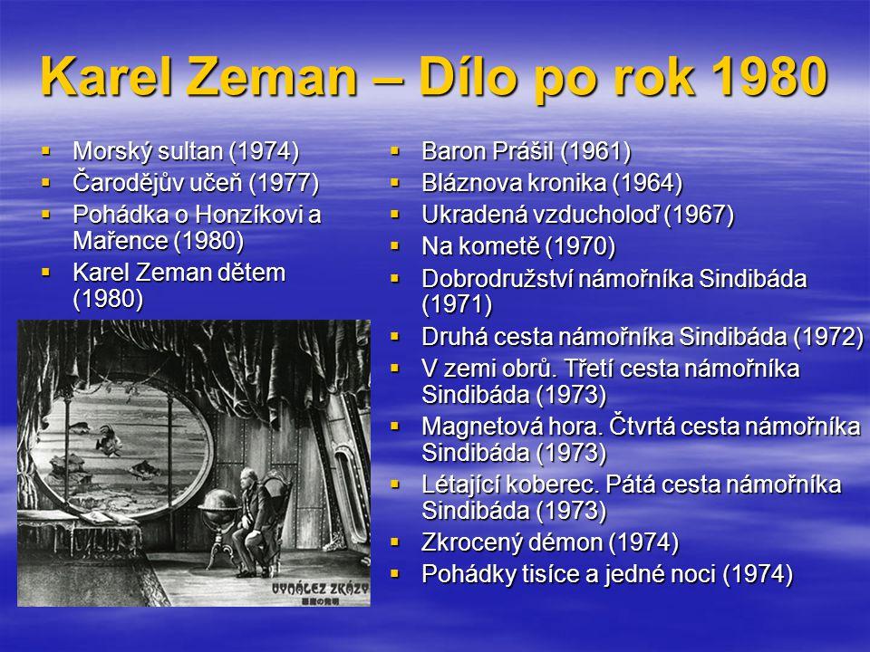 Karel Zeman – Dílo po rok 1980