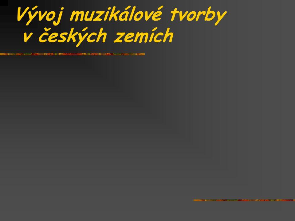 Vývoj muzikálové tvorby v českých zemích