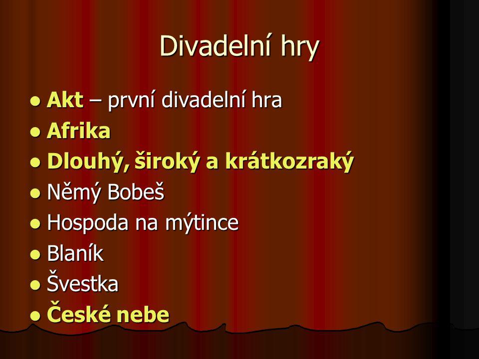 Divadelní hry Akt – první divadelní hra Afrika