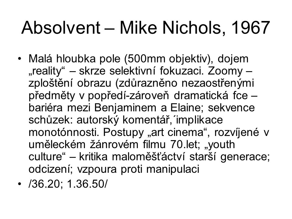 Absolvent – Mike Nichols, 1967