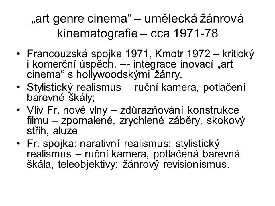 """""""art genre cinema – umělecká žánrová kinematografie – cca 1971-78"""