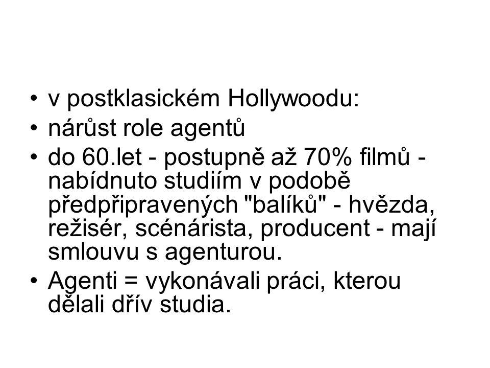 v postklasickém Hollywoodu: