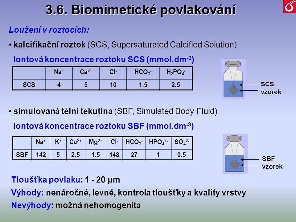 3.6. Biomimetické povlakování