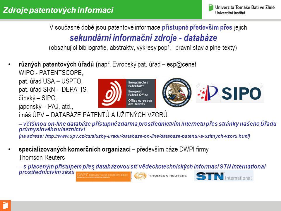Zdroje patentových informací