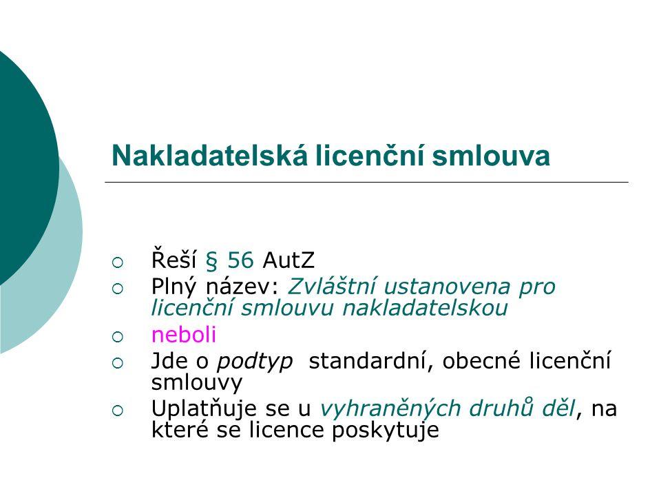 Nakladatelská licenční smlouva