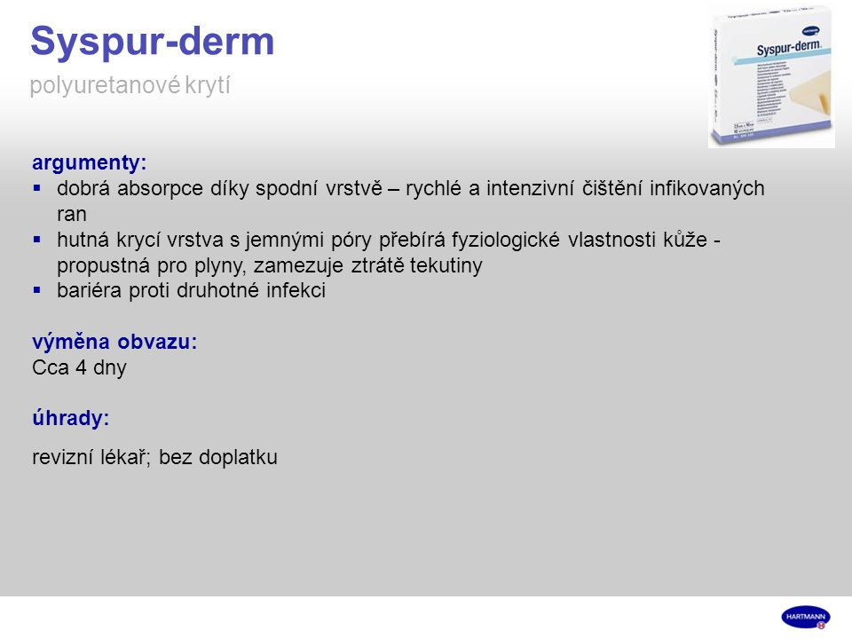Syspur-derm polyuretanové krytí