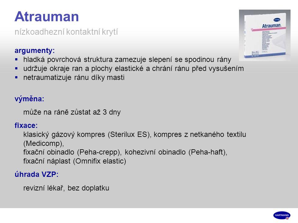 Atrauman nízkoadhezní kontaktní krytí