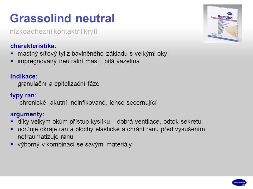 Grassolind neutral nízkoadhezní kontaktní krytí