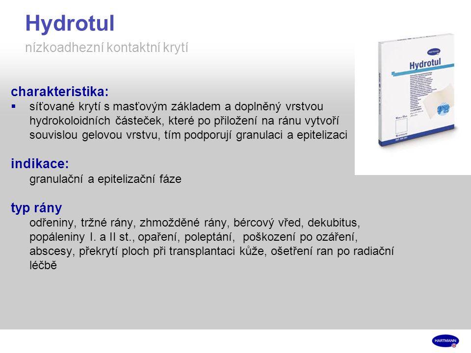 Hydrotul nízkoadhezní kontaktní krytí