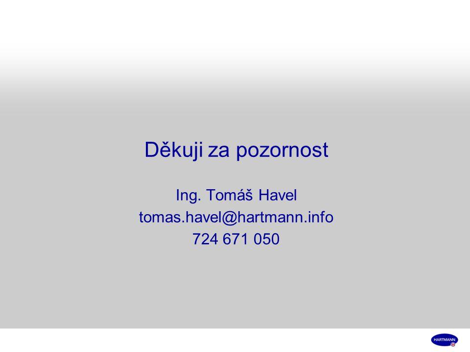 Děkuji za pozornost Ing. Tomáš Havel tomas. havel@hartmann