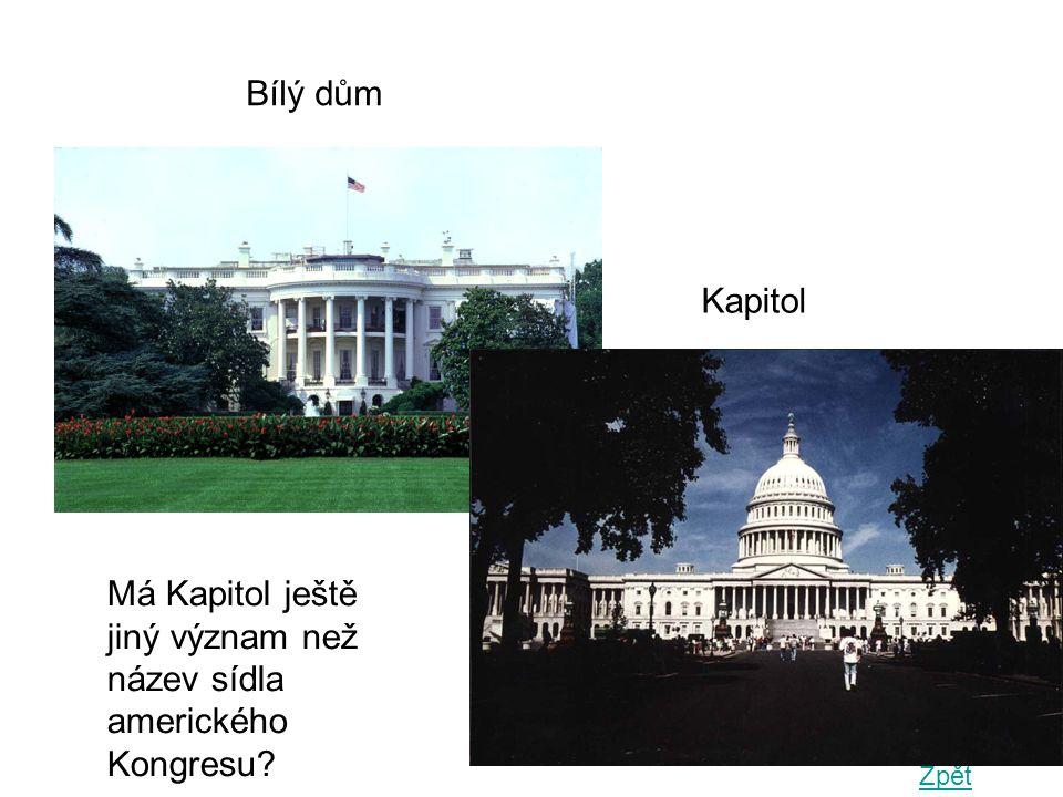 Má Kapitol ještě jiný význam než název sídla amerického Kongresu