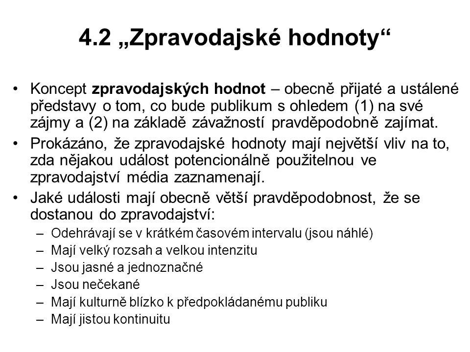 """4.2 """"Zpravodajské hodnoty"""