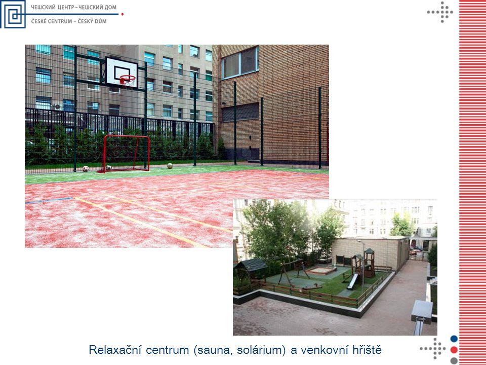 Relaxační centrum (sauna, solárium) a venkovní hřiště
