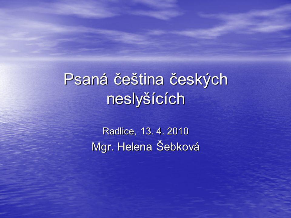 Psaná čeština českých neslyšících