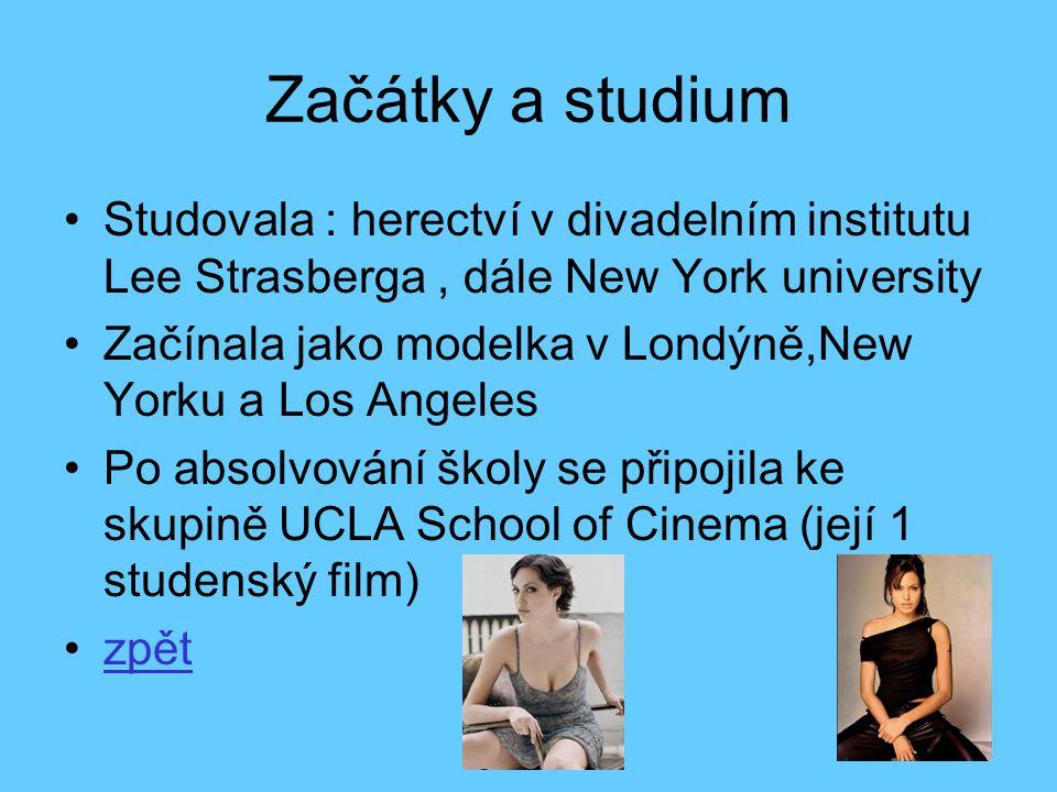 Začátky a studium Studovala : herectví v divadelním institutu Lee Strasberga , dále New York university.