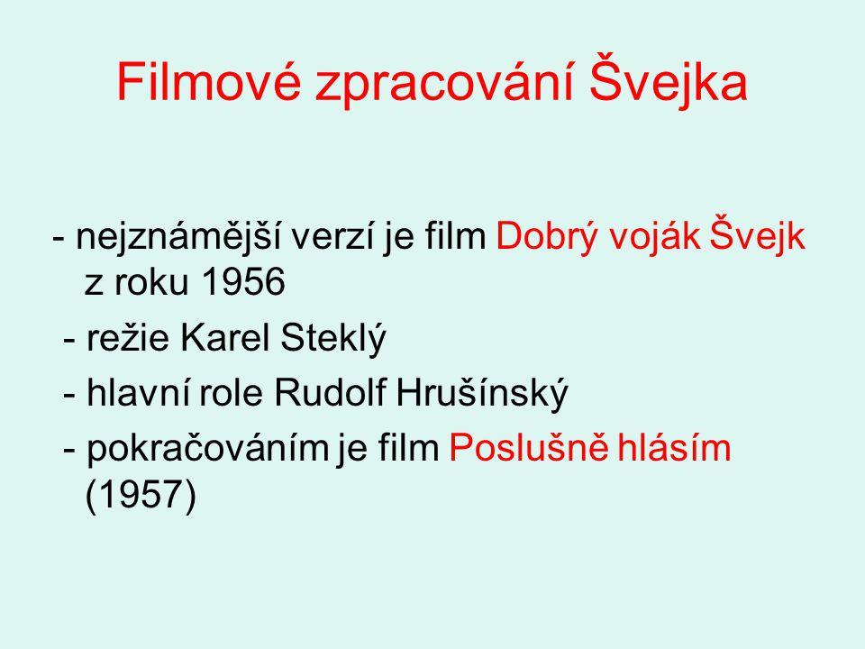 Filmové zpracování Švejka