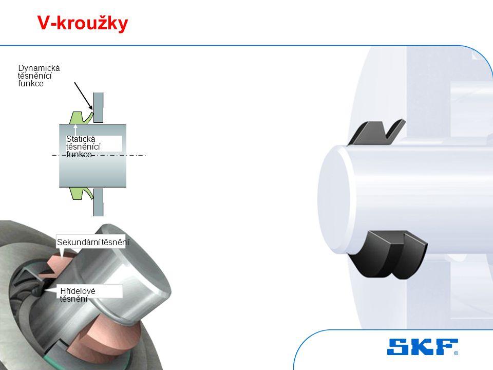 V-kroužky Jako ventil pro nadměrné množství plastického maziva