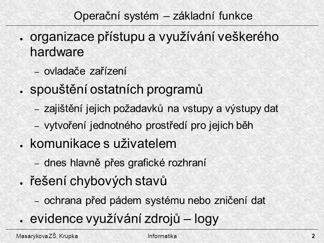 Operační systém – základní funkce