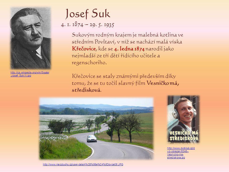 Josef Suk 4. 1. 1874 – 29. 5. 1935.